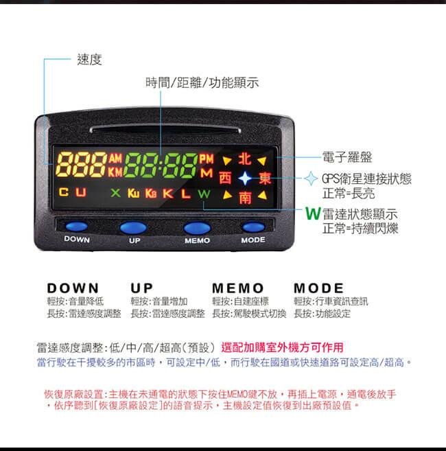 征服者 XR-3089 單頻測速器