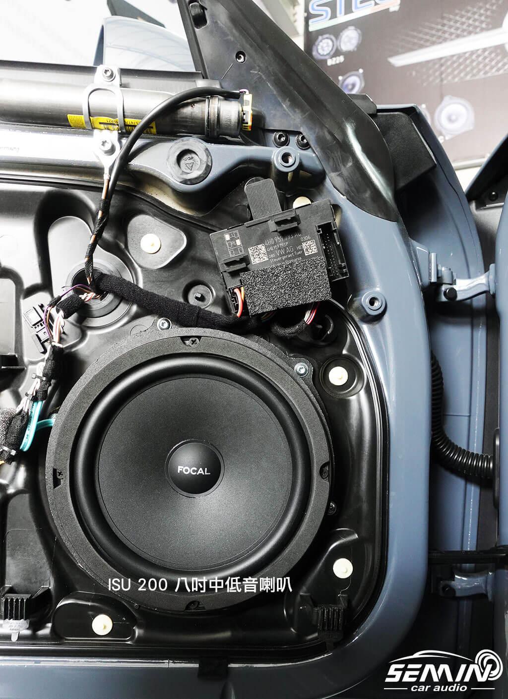保時捷911 無損改裝後級喇叭+擴大機