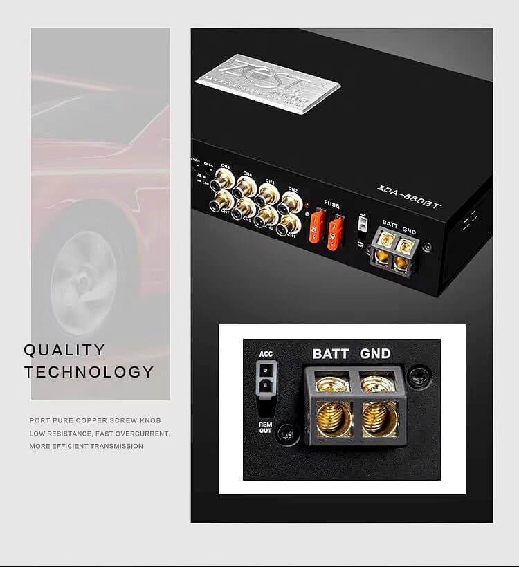 ZEST AUDIO ZDA-880BT 八聲道DSP擴大機